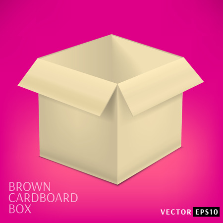 Open cardboard box. Isolated vector illustration Stock Vector - 28385661