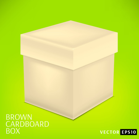 post box: Open cardboard box. Isolated vector illustration