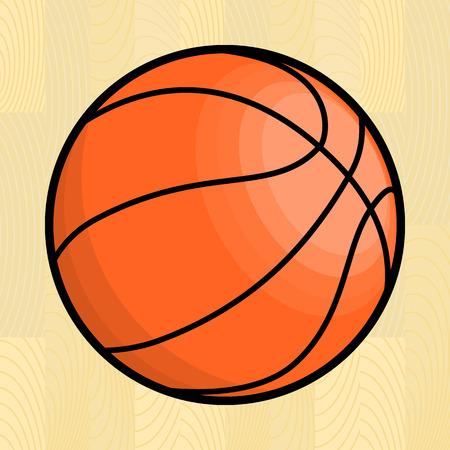 Basketball ball. Isolated vector illustration Vector
