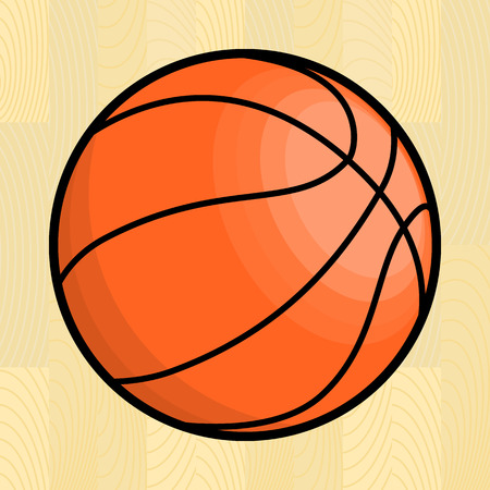 Basketball ball. Isolated vector illustration Vector