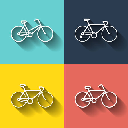 Bicycles pictograms. Bicycles icons. Bicycles illustration. Vector