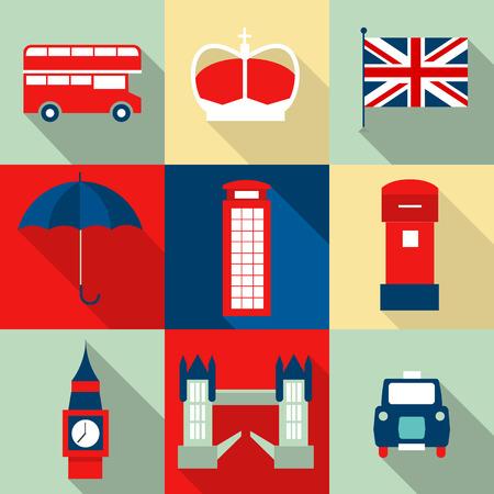 ロンドン ヴィンテージのアイコン ベクトル  イラスト・ベクター素材