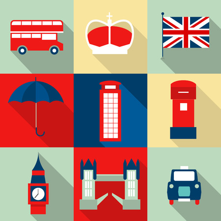 London vintage icons vectors Vector