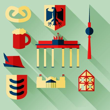 berlin: illustration icon set of Germany Illustration