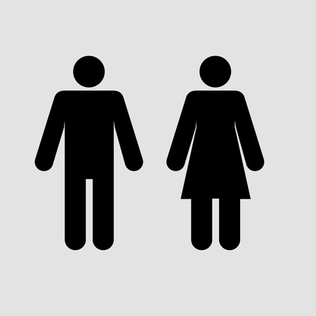 Man and woman sign.  Vector