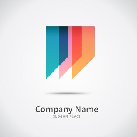 Abstract W letter logo, w letter logotype concept, branding logotype design Illustration
