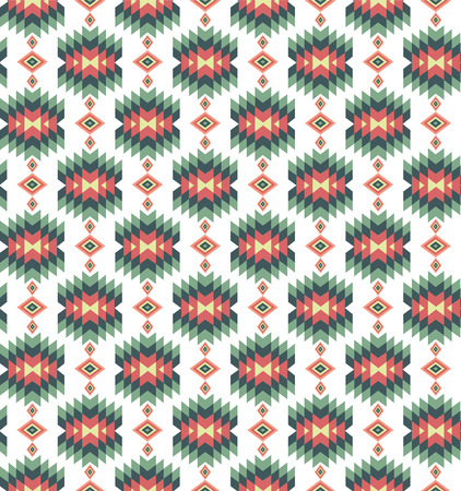 Seamless vector colorful aztec pattern. Vintage illustration. Ilustrace