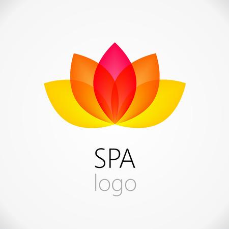 asian culture: Fiore di loto astratta vettoriale modello di progettazione. Salute & SPA idea creativa. Asian simbolo della cultura concetto icona. Vettoriali