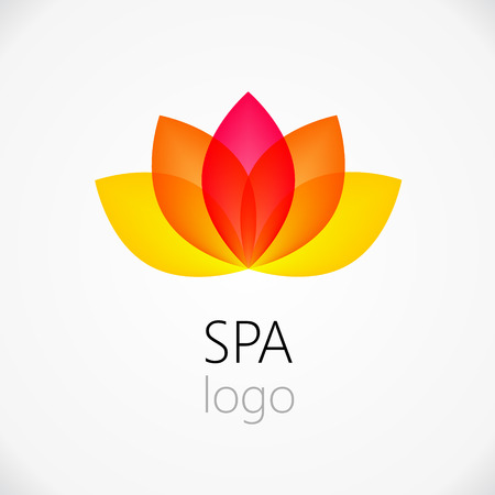 Lotus flower abstract vector design template. Health & SPA creative idea. Asian culture concept symbol icon. Stok Fotoğraf - 37768145