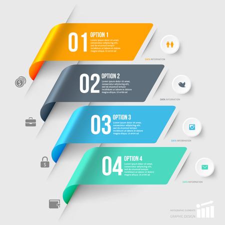 web: Modern infographics element number template. Vector illustration. can be used for workflow layout, diagram, business step options, banner, web design