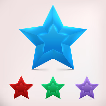 first form: Shiny Star. Form of first. Isolated illustration for design Illustration