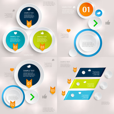 Set of modern infographics element number template. Vector illustration. can be used for workflow layout, diagram, business step options, banner, web design