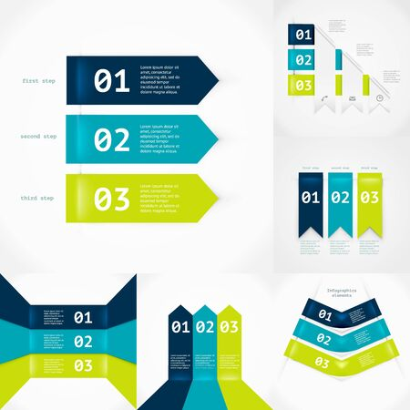 Modern infographics element number template. Vector illustration. can be used for workflow layout diagram business step options banner web design