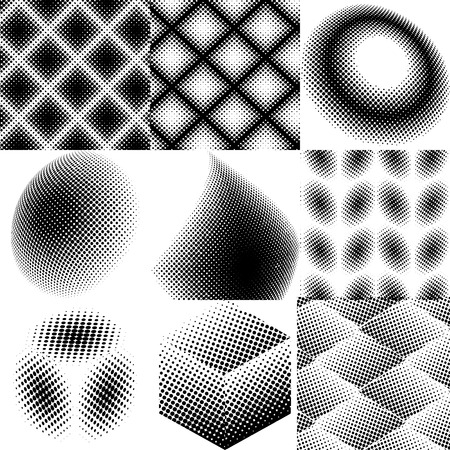 Halftone dots pattern set in vector format.
