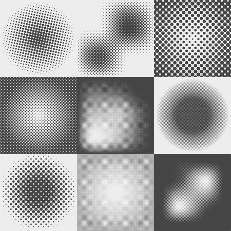 moire: Halftone dots pattern set in vector format.