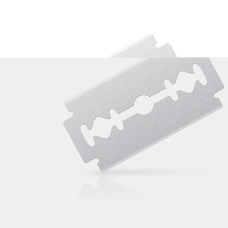 dissect: Isolated razor bladeon white bacground . Vector illustration