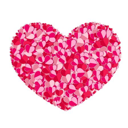 Valentines composition of the hearts. Vector illustration. Illustration