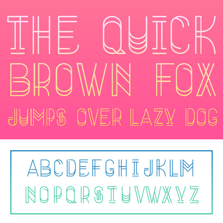 lettres alphabet: The quick brown fox jumps over the lazy dog ??- lettres de l'alphabet latin. Vector.