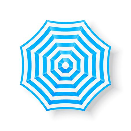 beach umbrella: Blue beach umbrella. Top view