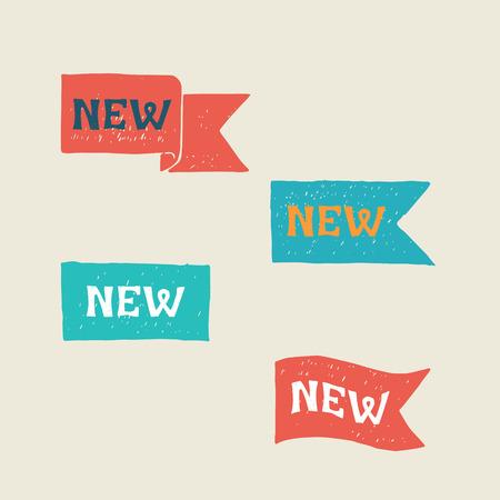New labels. Vector.