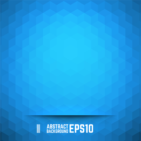 abstract blue: Blue abstract cube background. Vector illustration.