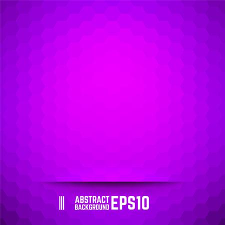 hexagone: Violet abstract hexagon background. Vector illustration.