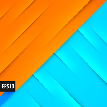 pure element: Abstract blue and orange background with lights and shadows. Illustration