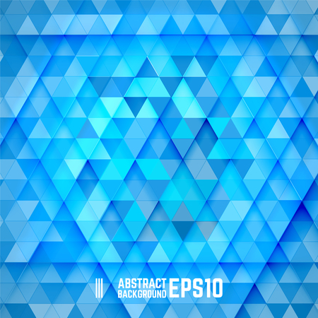 triangles: Blue abstract triangle background. Vector illustration.