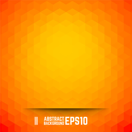 background orange: Orange abstract cube background. Vector illustration.