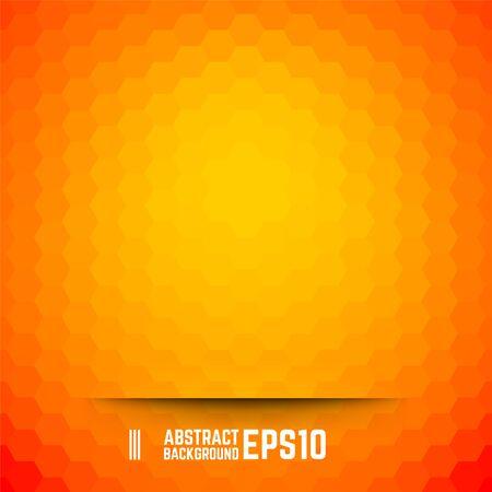 Orange abstract hexagon background. Vector illustration.