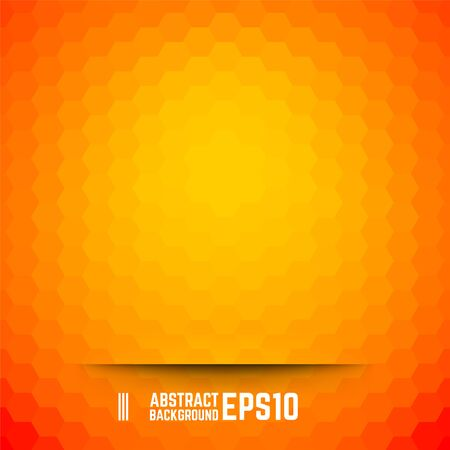 background orange: Orange abstract hexagon background. Vector illustration.