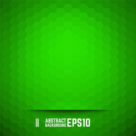 Green abstract hexagon background. Vector illustration.