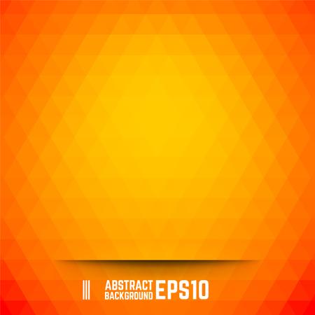 オレンジ色の抽象的な三角形の背景。ベクトルの図。  イラスト・ベクター素材