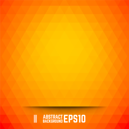Orange abstract triangle background. Vector illustration.