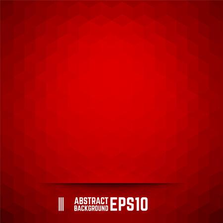 赤の抽象的なキューブの背景。ベクトルの図。