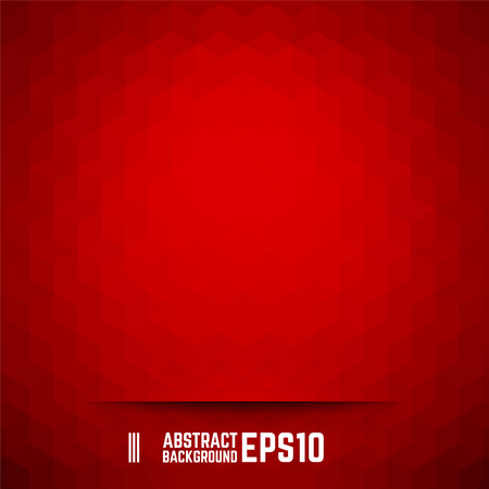 Red abstract cube background. Vector illustration.
