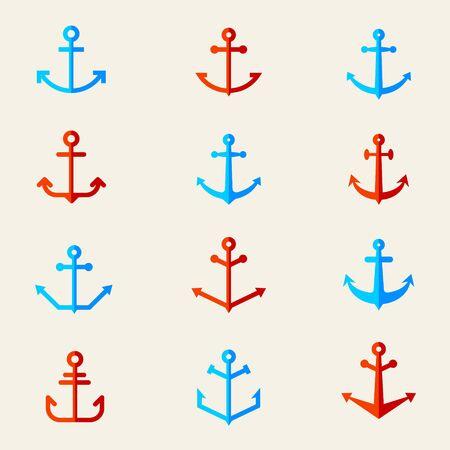 Set of anchor symbols. Vector.