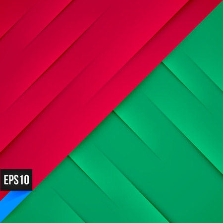 abstract green: Abstract red and green background with lights and shadows. Illustration