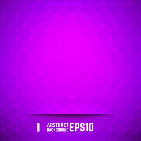 hexagone: Violet abstract cube background. Vector illustration.