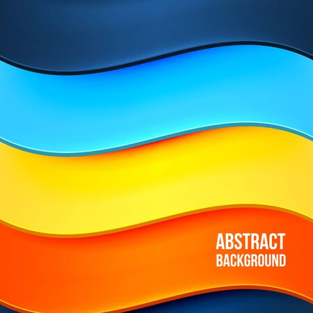 abstract waves background: Abstract colorful background with waves. Desgin template. Vector illustration Illustration