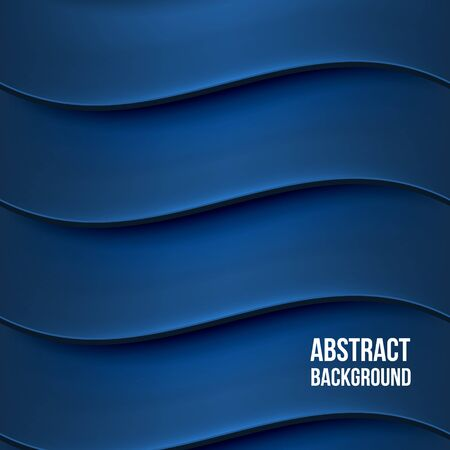 black blue: Abstract blue background with waves. Desgin template. Vector illustration