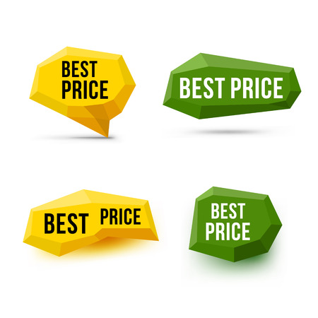 contentment: Best price signs. Best price symbols. Emblem labels. Vector