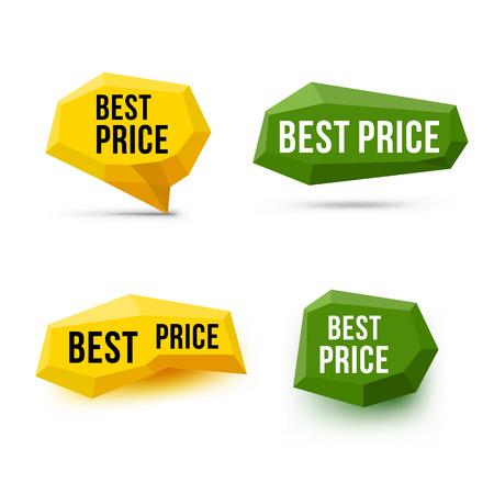 contentment: Best price signs. Best price symbols. Emblem labels. Vector