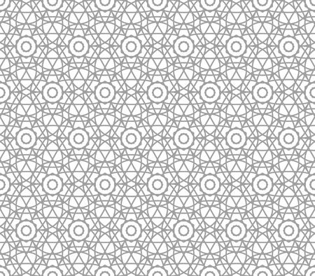 gray netting: Background with Islamic Seamless Pattern. Vector illustration