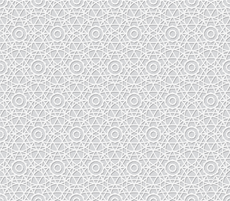 3D Background with Islamic Seamless Pattern. Vector illustration Stock Vector - 47656387