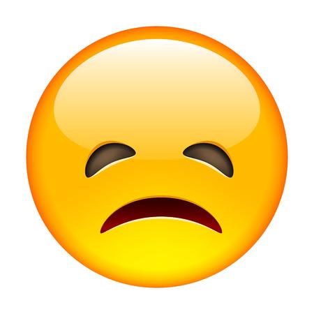occhi tristi: emoticon Grumpy. illustrazione vettoriale isolato su sfondo bianco