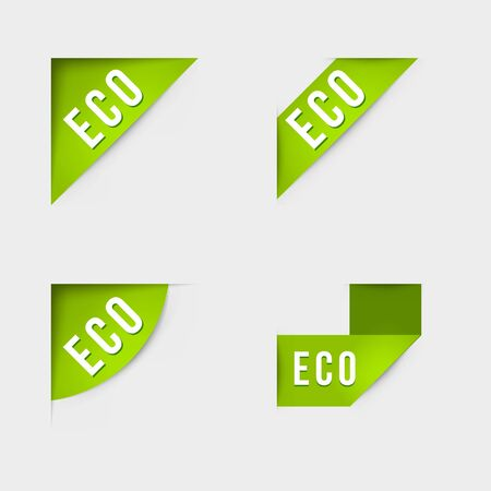 hundred: Eco and Eco product labels. Isolated vector illustration. Illustration