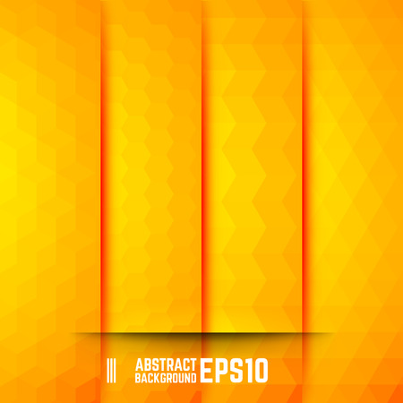 vector backgrounds: Set of Yellow Abstract Backgrounds. Four Patterns. Vector illustration.