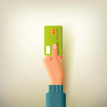 Hand with Credit Card. Means of Payment