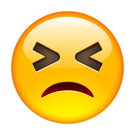 screwed: Screwed Emoticon. Isolated Illustration on White Background Illustration
